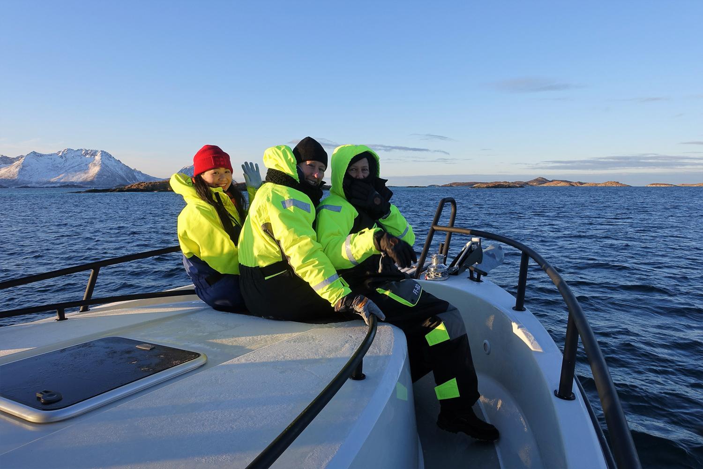 Enjoying Arctic Boat Safari