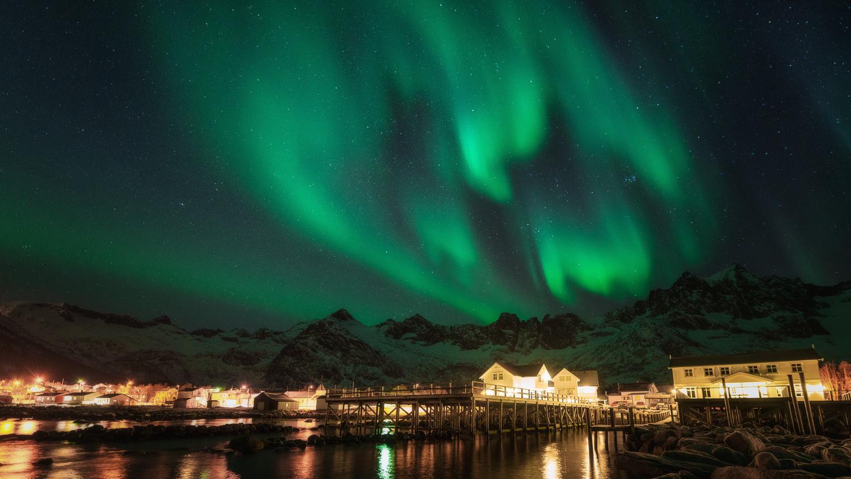 Mefjord Brygge Northern Lights